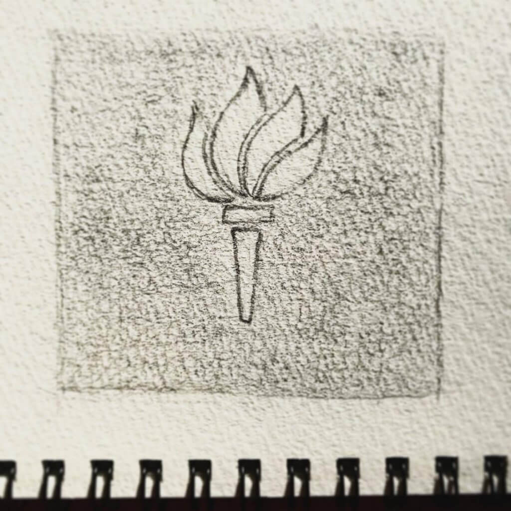 New York University logo sketch