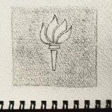 New York University logo sketch